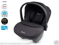 SILVER CROSS SIMPLICITY BLACK USED GOOD CONDITION CAR SEAT GROUP 0+ FIT WAYFARER