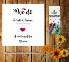 Personalised Childrens Kids Wedding Activity Pack Book Favour 6x6inch AAB11