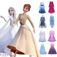 Die Eiskönigin Kleid Mädchen Frozen 2 Anna Elsa Prinzessin Kinder Party Kostüm