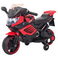 Kinder Elektrofahrzeug Elektro Akku Bike Motorrad mit Stützräder LQ158 Rot