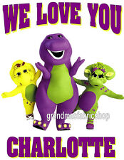 New Personalized Barney and Friends T Shirt (add name&message)