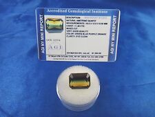 Natural Ametrine Green Blue Purple Orange 11.46 Ct Certified App $1590 AGI AMT26