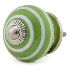 Möbelknöpfe Möbelgriffe Möbelknopf Porzellan Keramik Vintage 1051-E R2-79 grün