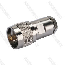 UHF Clamp PL259 male Plug for LMR195 RG58 RG400 RG142 cable RF coax connector