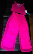 DISNEY PRINCESS DRESS SLEEVELESS SHIRT WITH PANTS SIZE SMALL 6 MSRP $30.00