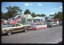 Vintage 1977 Slide Photo Ford RANCHERO SQUIRE & Dodge Pickup Truck PullIng Kids