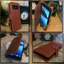 GALAXY S10  Real Leather Tan Folio Book Case Wallet.    OPEX™