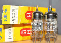 PHILIPS MINIWATT ECC81 TK2 12AT7 PERFECT MATCH PAIR NOS++ NIB MINTY VINTAGE 1963