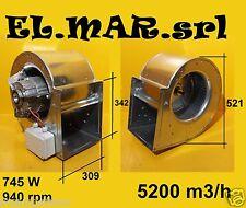 Ventilatore Aspiratore Centrifugo DD 12/9 Motore Monofase 745W cappa industriale