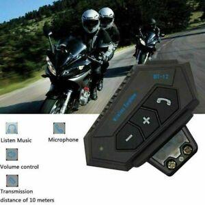 BT-12 Bluetooth Motorrad Helm Headset Intercom Motorrad Kopfhörer FM GPS