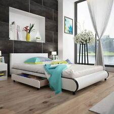 vidaXL Bedframe met 2 Lades Kunstleer Wit 140x200 cm Ledikant Bed Frame Bedden