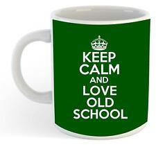 Keep Calm And Love Old School Tasse - Vert