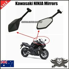 Black Kawasaki NINJA 650R 2009 2010 2011 Left Right Side rear view Mirror Set