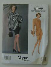 Vogue Sewing Pattern 2934 Designer Genny 12 14 16 Petite Jacket Skirt 1992