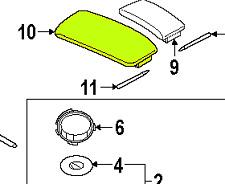 Audi Q7 05 - 15 OEM Center Console Armrest Left 4L1864249AN18 GENUINE