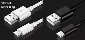 10FT USB-A to Type C USB-C Fast Charge Cable Cord Quick Charger Charging Sync