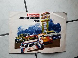 Carrera - 70 er jahre - ein alter Prospekt  von  1975/76  (12 seiten)