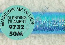 Kreinik Blending Filament 9732 Blue Grass Metallic Thread 50M Cross Stitch