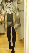 Wollpulli Woll-Pullover Tommy Hilfiger Denim Eule dunkelgrau Gr. S 36 TOP Winter