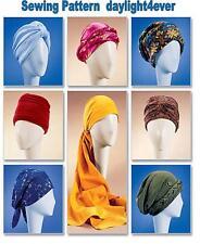 7 Turban Head Wrap Chemo Wear Hat McCall's Sewing Pattern 4116  New Size S-L #u