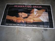 MANIFESTO 6F,Serena Grandi,1986,Desiderando Giulia,Sergio Rubini,sexy eros adult