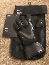 Nike Gk Grip3 adjustable black soccer gloves size 8