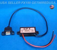12V to 5-VOLT USB 3-AMP DC Converter Step Down Power Adapter Module Flush Mount