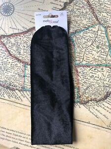 Women's Fashion 7cm wide soft Stretch Headband/Bandeau Black Velvet