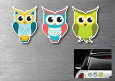 Cute Owls decal stickers 3 pack 7 year water & fade proof vinyl laptop ipad car