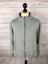Nike Full Zip Sweater-Large-Grigio-ottime condizioni