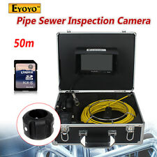 "Brand Eyoyo 50M 7"" Screen Sewer Waterproof Camera Pipe Pipeline Drain Inspection"