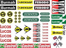 Waterslide Transfers 1:10 1:18 1:32 1:72 Scales RC Car Scalextric Models MINI
