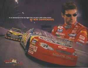 2000 Jeff Gordon Team Monte Carlo Chevy NASCAR Winston Cup postcard