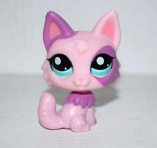 Littlest Pet Shop Animal Blue Eyes Purple Pink Fox Figure Doll Child Toy