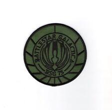 Battlestar Galactica BSG 75 Logo Tactical Green Embroidered Patch, NEW UNWORN
