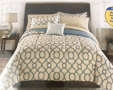 DORM Twin/Twin XL 6 Piece Coordinated Bedding Set Mainstays Tan Fretwork