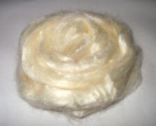 Tussah silk roving felting hand spinning fibre combed top soapmaking undyed