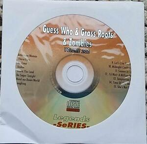 GUESS WHO,GRASS ROOTS & ZOMBIES LEGENDS KARAOKE CDG ROCK 232 MUSIC SONGS CD
