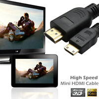 High Speed Mini HDMI Cable v1.4 3D Ethernet 1080p for Digital Camera devices 3FT