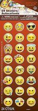 Emoji Rostros Puffy Pegatinas, paquete de 24