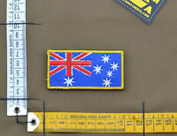 "Ricamata / Embroidered Patch ""Australia Full Color Flag"" with VELCRO® brand hook"