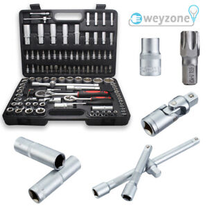 108Pcs Professional Socket Set Screwdriver Bit Torx Ratchet Driver Tool Case Kit