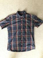Mens Brixton Check Short Sleeve Shirt - M