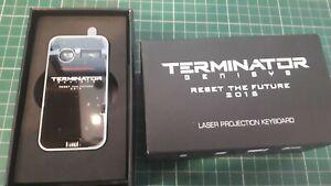 Terminator Genisys movie promo laser keyboard Arnold Schwarzenegger