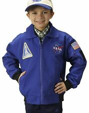 Jr. Flight Suit Jacket NASA Blue Astronaut kids boys halloween costume