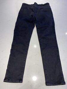 Decjuba Riley Skinny Jeans Black Size 12 Good Condition