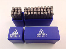"""Reversed Character Steel Hand Stamp Letter & Number Die Set 36pc 3/16"""" 5mm"""
