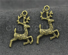 15/60/300pcs Tibetan Silver Lovely two-sided Deer Jewelry Charms Pendant 20x14mm