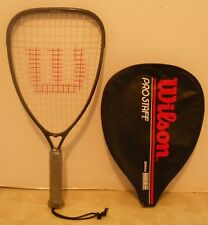 Vintage Wilson High Beam Pro Staff Racquetball Racquet + Cover - Vgc