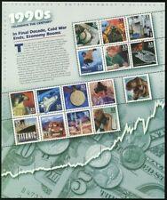 Celebrar el siglo década de 1990 Hoja de quince 33 Centavos Estampillas Postales Scott 3191